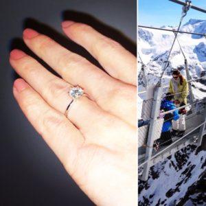 diamond platinum engament ring