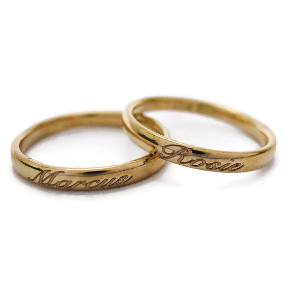 handmade gold wedding rings