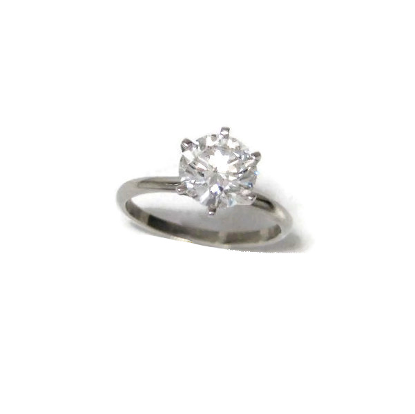 Platinum solitair diamond ring