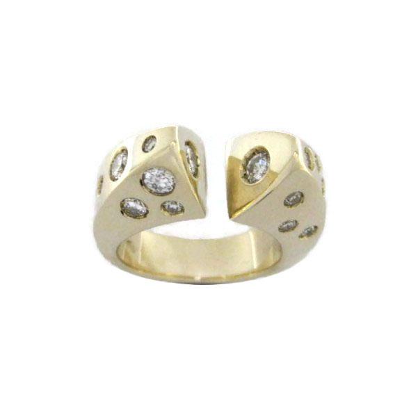 Handmade gold and diamond ring