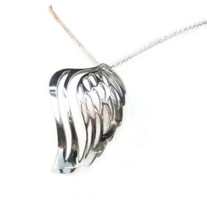 angel wing diamond pendant