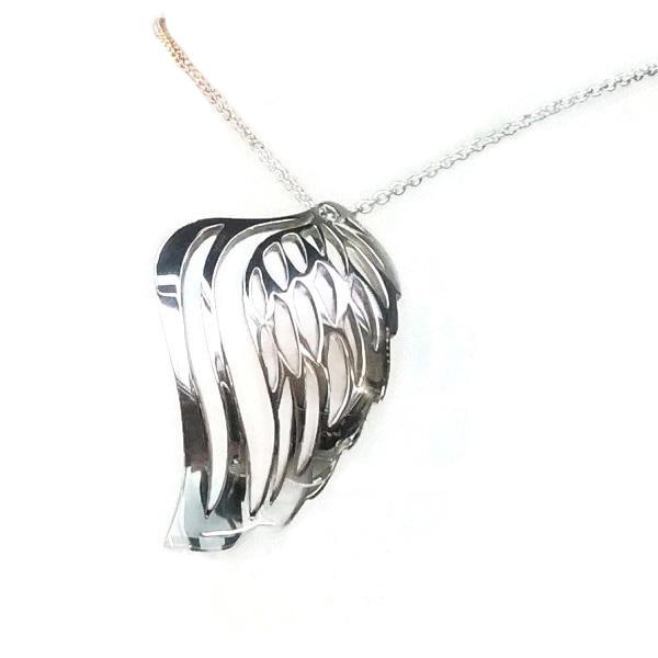 angel wing diamond pendant