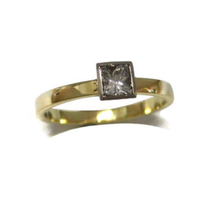 gallery gold commission solitair diamond gold ring