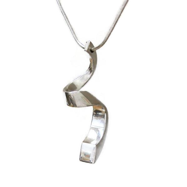 silver coil pendant