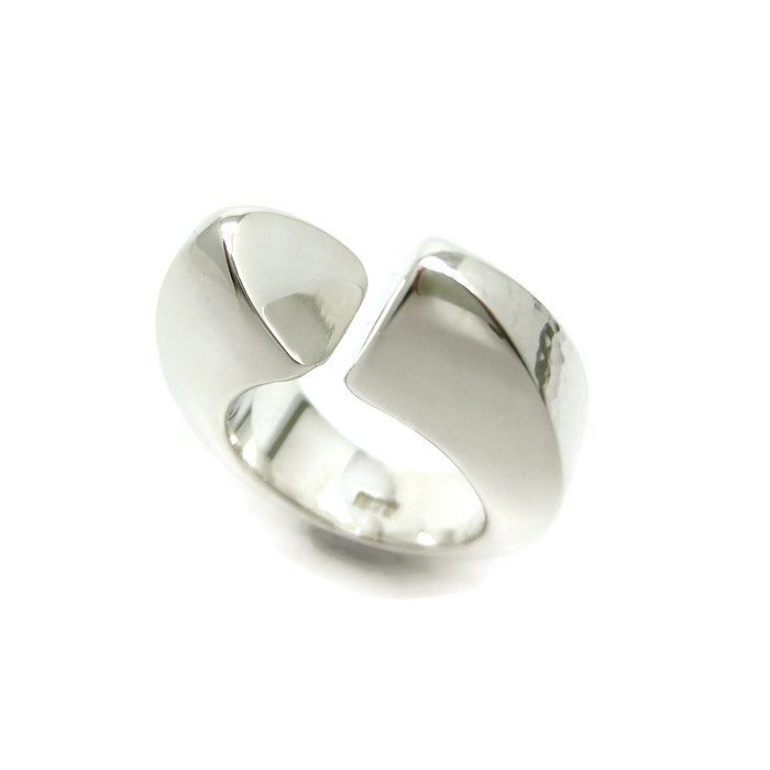 open ended silver ring