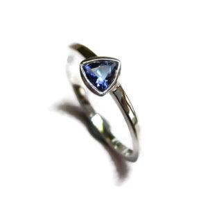 dainty iolite ring