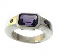 handmade silver gemstone ring