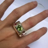 handmade silver gemset ring