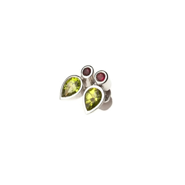 handmade peridot tourmaline earrings