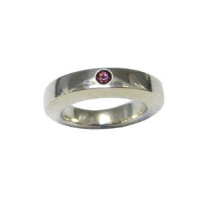 Rhodolite silver ring