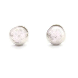 silver dot earrings