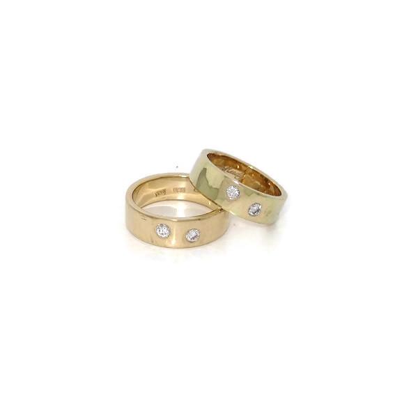 diamond gold wedding rings
