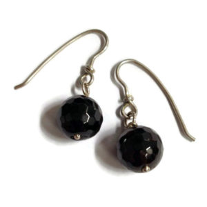 chocolate garnet earrings