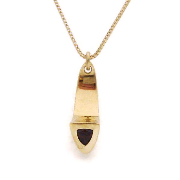 gold garnet pendant