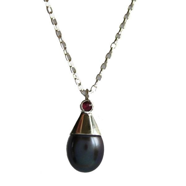 pearl silver pendant