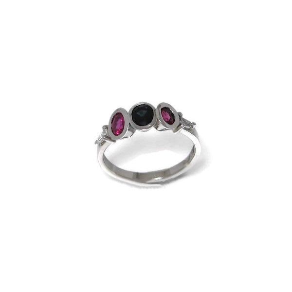 platinum ruby sapphire ring