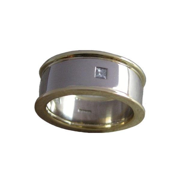 yellow white gold diamond ring