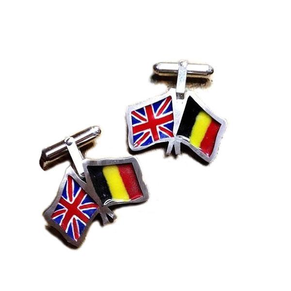 Belgian-British flag cufflinks