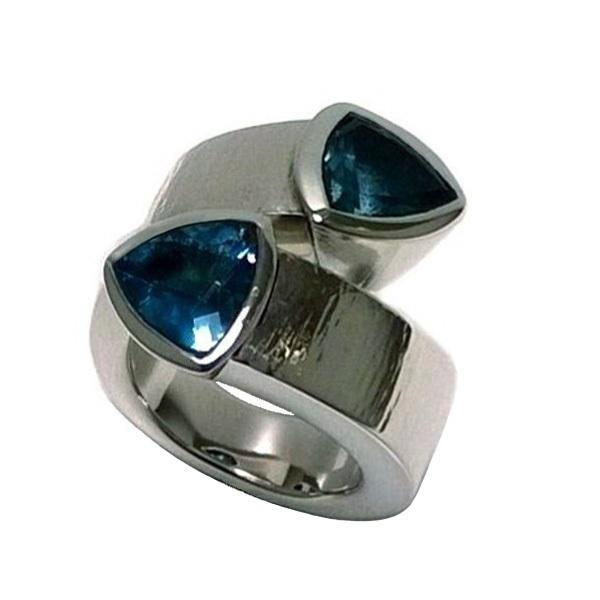 London blue topaz silver ring