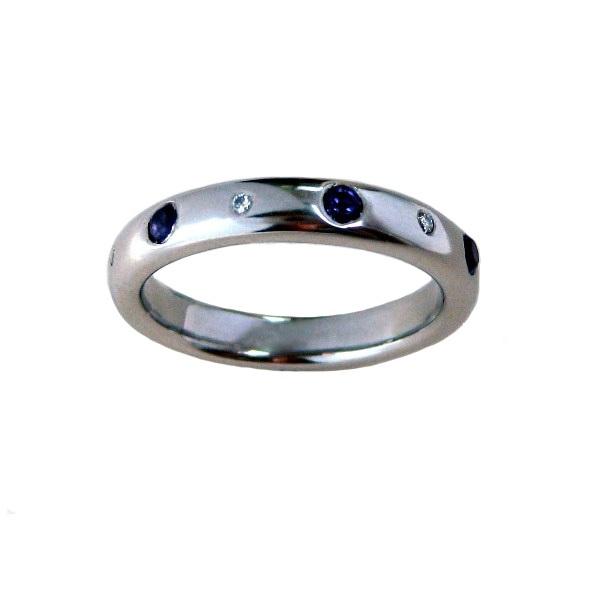 amethyst diamond palladium ring
