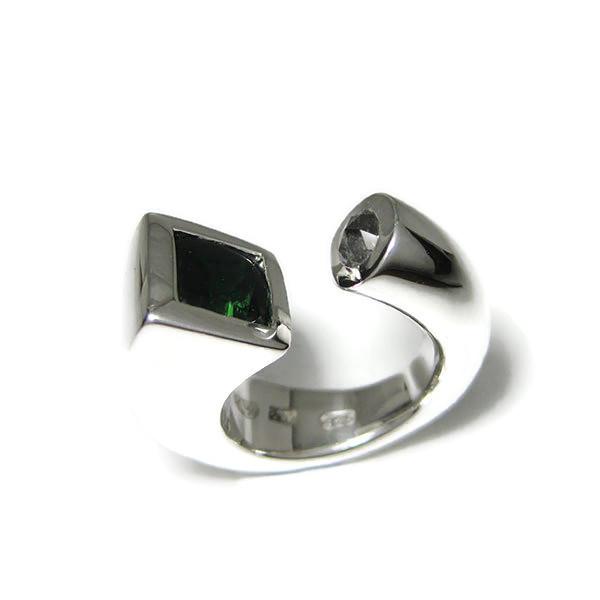 Fairmined silver gemstone ring